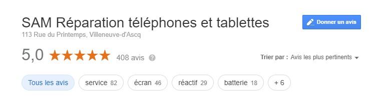 AVIS REPARATION TELEPHONE